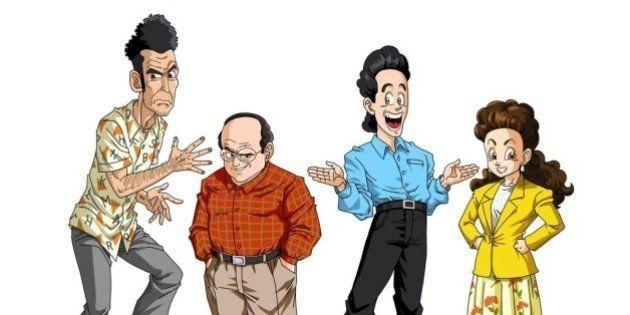 Personagens da série 'Seinfeld' ganham versão 'Dragon Ball'
