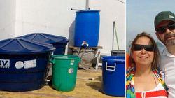 Com sistema caseiro de captação de água, família tem conta da Sabesp