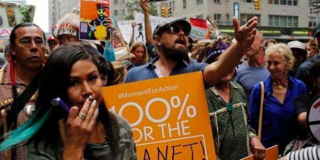 Centenas de milhares vão às ruas de NY em marcha pelo clima