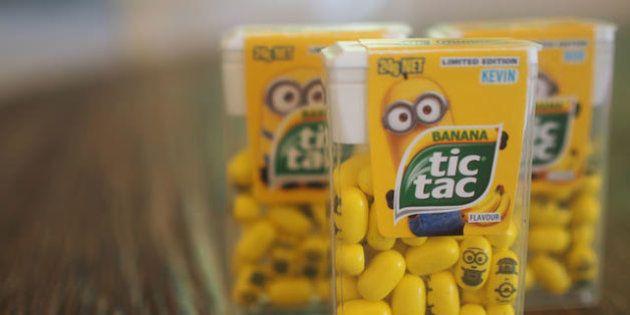 Nos EUA, Tic Tac lança edição limitada dos Minions com sabor banana e 'rostinhos' nas
