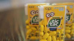 Minions ganham versão Tic Tac, com sabor banana e