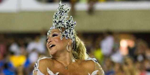 RIO DE JANEIRO, BRAZIL - FEBRUARY 21: Suzana Vieira from Grande Rio during the samba school's parade...