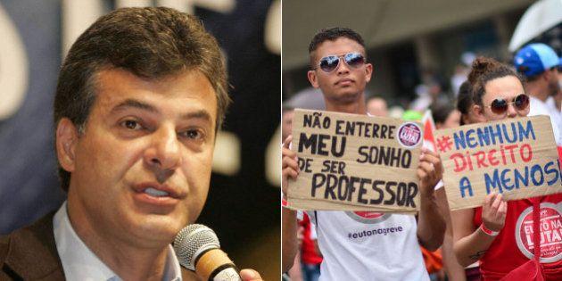 Com rejeição recorde, Beto Richa tenta na Justiça pôr fim à greve dos professores no