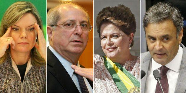 Lista de Janot inclui Gleisi e Paulo Bernardo, diz jornal; Denúncias contra Dilma e Aécio devem ser