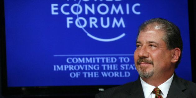 Mark Weinberger, chairman and chief executive officer of Ernst & Young LLP, attends a session at the...