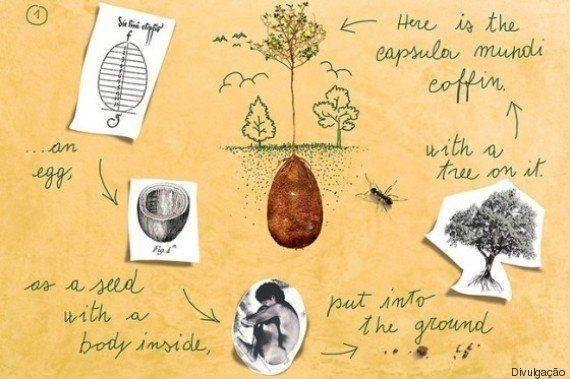 Poesia na morte: designers italianos criam cápsula para tornar cemitérios em florestas