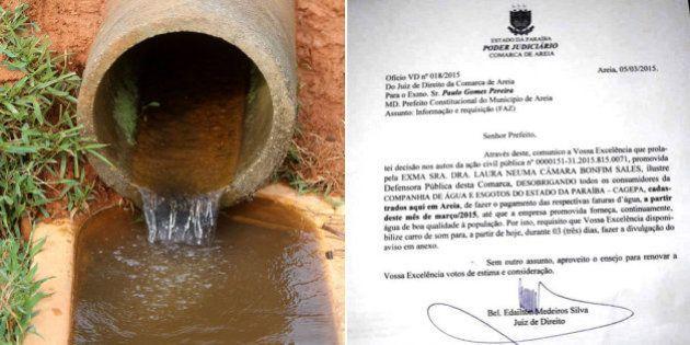 Juiz determina que a população de Areia (PB) não pague água até que serviço seja de