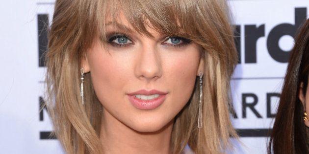 LAS VEGAS, NV - MAY 17: Singer Taylor Swift arrives at the 2015 Billboard Music Awards at MGM Garden...