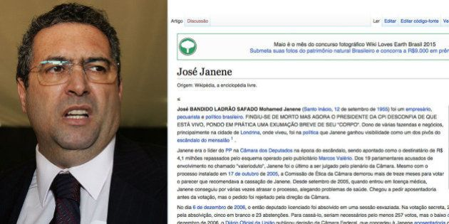 Perfil na Wikipédia de deputado morto em 2010 é alterado após pedido de exumação na CPI da