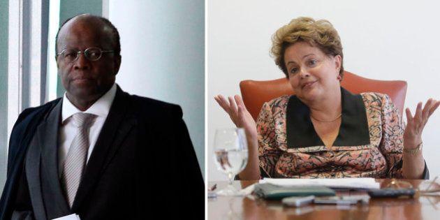 Joaquim Barbosa diz que Dilma Rousseff cometeu 'erro político imperdoável' por não vetar o aumento do...