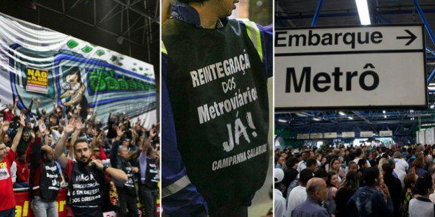 Reivindicando ajuste salarial e melhores condições de trabalho, funcionários de Metrô e da CPTM devem...