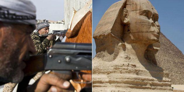 Após destruição arqueológica, líder do Estado Islâmico prega a destruição da Esfinge e das pirâmides...