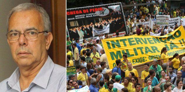 Líder de protestos por intervenção militar é investigado pela Polícia Federal por 'subversão da ordem...