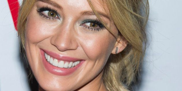 Hilary Duff attends the release party for her video