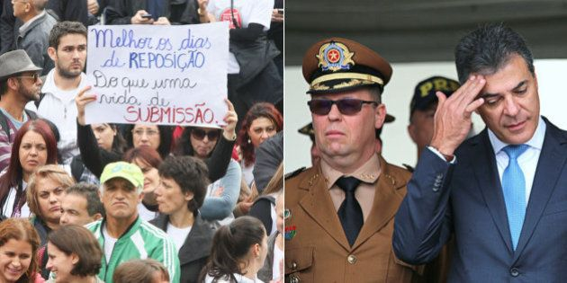 Sem dar explicações ao MP-PR, Beto Richa se diz alvo de uma 'perseguição do PT' e defende ação da PM...