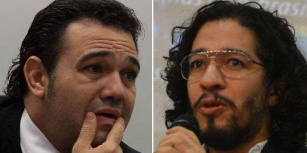 Sem definição para as vice-presidências da CDH, Marco Feliciano e Jean Wyllys trocam
