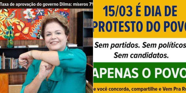 Regras para protestos contra o governo de Dilma Rousseff neste domingo viralizam na