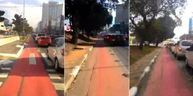 Ciclista grava vídeo que vai te mostrar (se ainda for preciso) a importância das ciclofaixas em São Paulo