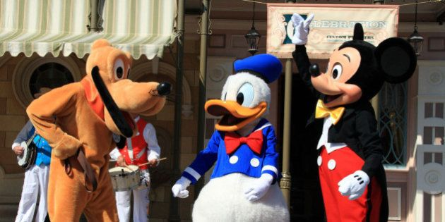 Several of Disney's most well-recognized characters (including Minnie, not pictured) appeared on Main...