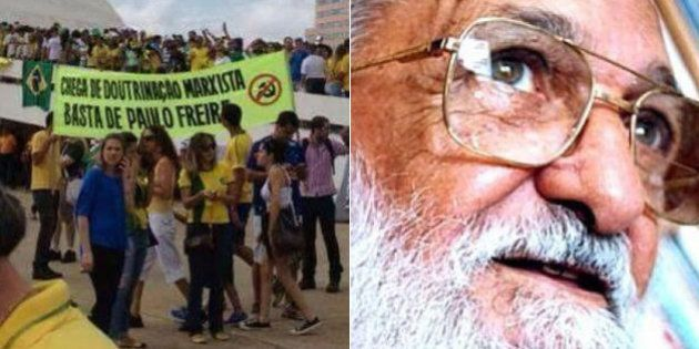 Após faixa pedir um 'basta de Paulo Freire', ONU divulga mensagem aos que dispensam ensinamentos de Paulo