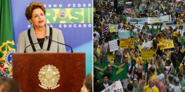 Pressionada pelos protestos, presidente Dilma Rousseff apela para humildade, mas se esquiva de admitir