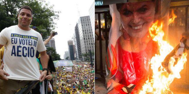 Manifestante que foi às ruas no domingo ganha bem, tem perfil de centro-direita, votou em Aécio e aprova...