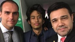 BFF's: Feliciano posta selfie com Kim Kataguiri e filho de