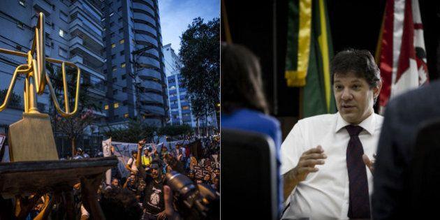 'Uma confusão que não leva a um bom lugar', diz Haddad sobre protesto do MPL em frente a sua