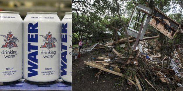 Cervejaria interrompe produção para envasar água potável para vítimas de inundações nos EUA; Obama declara