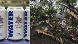 Cervejaria americana envasa água potável para vítimas de