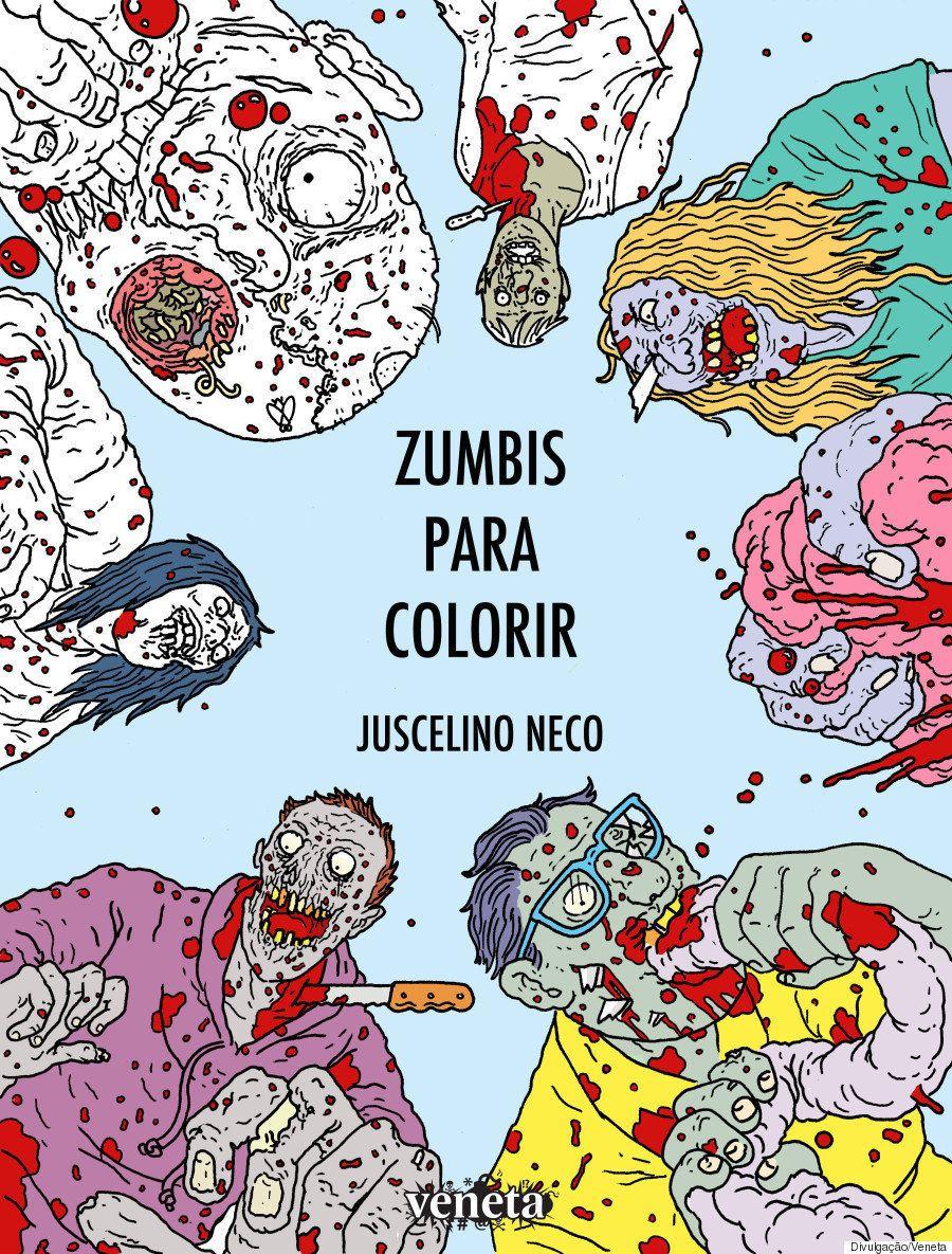 Este livro de 'Zumbis para Colorir' debocha de desenhos fofos e desestressa de verdade
