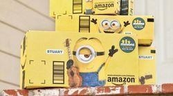 Minions invadem caixas de encomendas da Amazon nos Estados