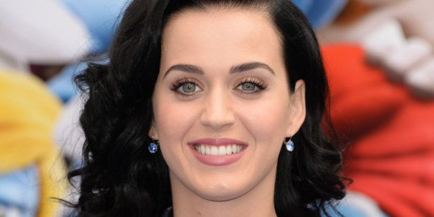 WESTWOOD, CA - JULY 28: Actress/Singer Katy Perry attends the premiere of Columbia Pictures' 'Smurfs...