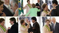 Líderes latino-americanos celebram posse de Dilma