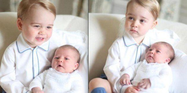 Família Real britânica divulga imagens da Princesa Charlotte com Príncipe George
