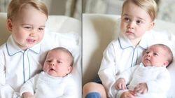 Fofura! Família Real divulga imagens da Princesa Charlotte com Príncipe