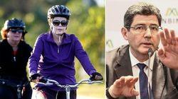 Dilma pedala com jornalista e defende ministro Levy: 'Não se pode criar um