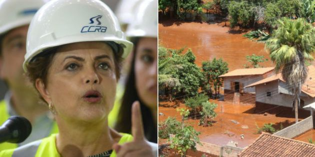 Mais de 150 horas depois do desastre, a presidente Dilma vai a