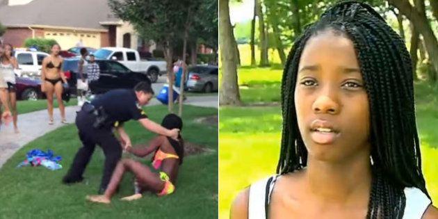 'Ele achou que estávamos sendo grosseiros', diz jovem de 15 anos agredida por policial no