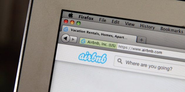 SAN ANSELMO, CA - APRIL 21: The Airbnb website is displayed on a laptop on April 21, 2014 in San Anselmo,...