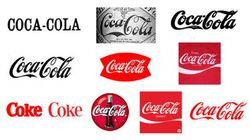 GIF mostra as evoluções de marcas famosas, como Cola-Cola e