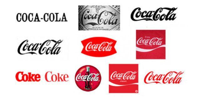 GIF mostra a evolução de logotipos das marcas mais famosas do
