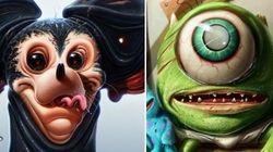 Artista faz versões SI-NIS-TRAS de personagens Disney e