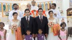 Este casamento só tem gêmeos: noivos, noivas, padres, daminhas e
