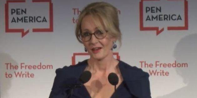 J.K. Rowling defende o direito de Donald Trump ser 'ofensivo' e