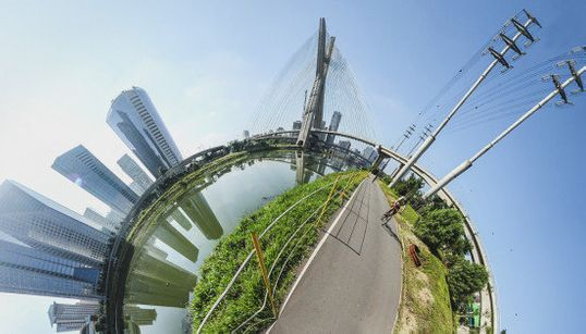 Fotógrafo dá rolê de bicicleta por São Paulo para criar cidade