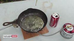 Veja o que acontece quando você mistura Coca-Cola com chumbo