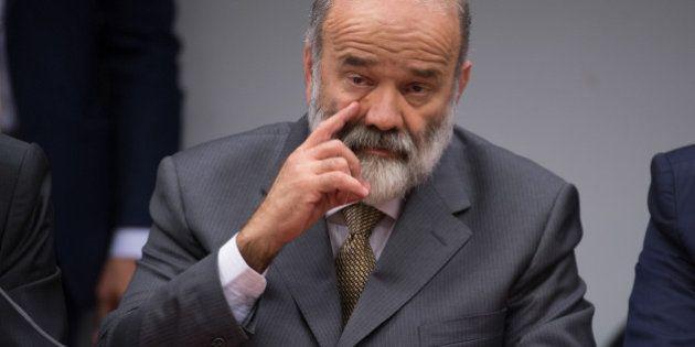 O tesoureiro do PT, João Vaccari Neto, presta depoimento na CPI da Petrobrás, na Câmara dos Deputados...