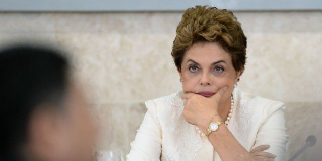 Brazil's President Dilma Rousseff attends the Economic and Social Development Council meeting in Brasilia,...