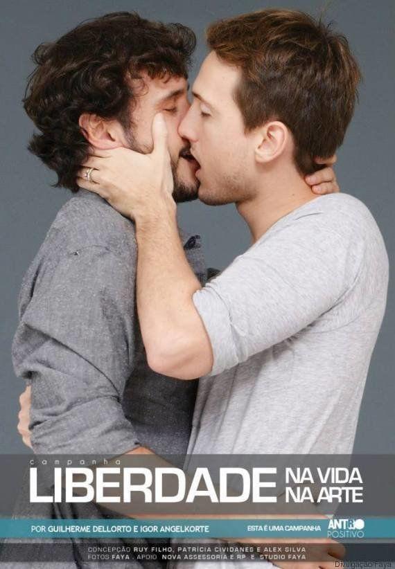 Famosos dão beijo gay em campanha de revista para o Dia dos Namorados